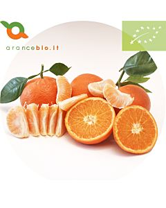 Clementine Biologiche della varietà Taclè. Prodotto non trattato in superficie. Buccia edibile